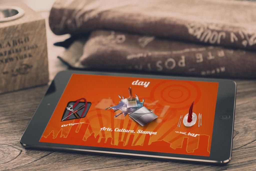 grafica per applicazione mobile di un brand per azienda