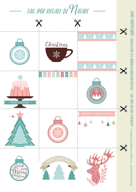 Etichette Natalizie Da Stampare 12 tag gratuite per i regali di natale, pronte da scaricare *